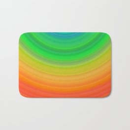 Rainbow Smile Colored Circles Summer Pattern Bath Mat