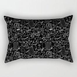 Sumer Days - Black Rectangular Pillow