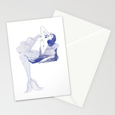 Mermaid on Shell Stationery Cards