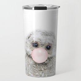 Bubble Gum Baby Owl Travel Mug