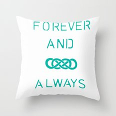 Infinity Squared  Throw Pillow