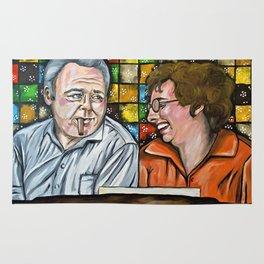 Archie & Edith Bunker  Rug