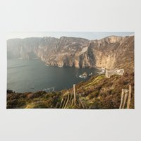 league Area & Throw Rugs featuring Slieve League by Marie Carr