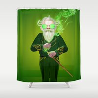 oz Shower Curtains featuring The Wizard from Oz by Max Schultz