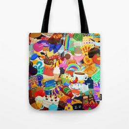 Sticker overload Tote Bag