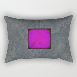 Slate Gray Lavender Fuschia Modern Art Rectangular Pillow