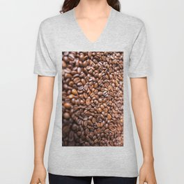 Fresh Coffee Beans Unisex V-Neck