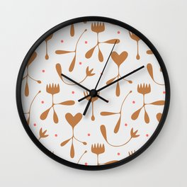 Autumn Seed Wall Clock