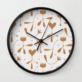 Autumn Seed Wall Clock