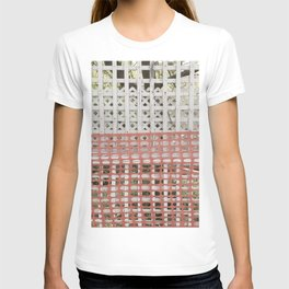 Protected (protection zone safety fence pattern) T-shirt