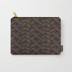 Brown Haka Cable Knit Carry-All Pouch