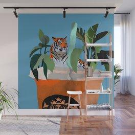 Coffee tiger Wall Mural