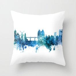 Scarborough England Skyline Throw Pillow