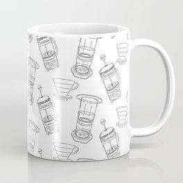 Coffee Brewing Pattern Coffee Mug
