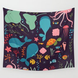 Sea creatures 001 Wall Tapestry