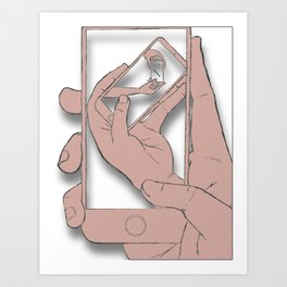 iFail Rose Gold (Picture This!) Art Print