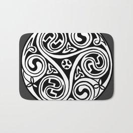 Celtic Art - Triskele - on Grey Bath Mat