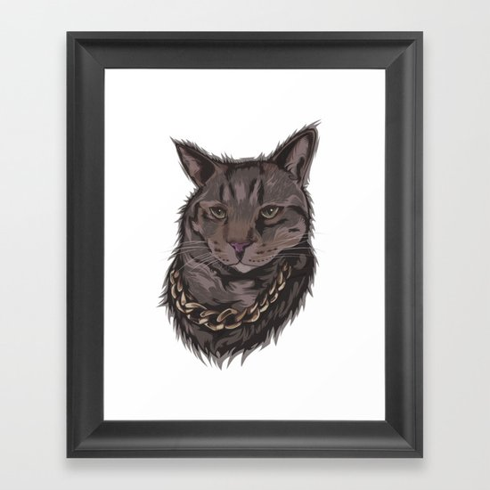 Smokey the Cat Framed Art Print