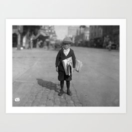Six Year Old Newsie - Los Angeles - 1915 Art Print