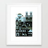 paris Framed Art Prints featuring Paris by koivo