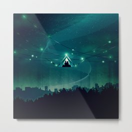Wireless Camping Metal Print