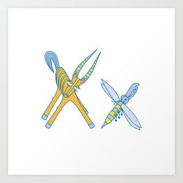 X Uppercase/Lowercase Pair, no border Art Print