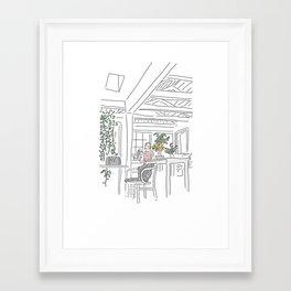 Jane's Kitchen Framed Art Print