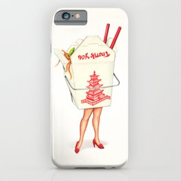 Chinese Takeout Pin-Up iPhone Case