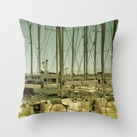 marina Throw Pillows featuring marina by gzm_guvenc