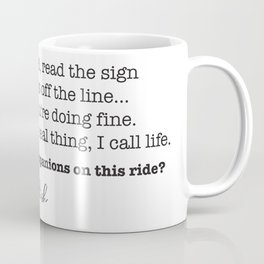 Strange Design - Phish Lyrics  Coffee Mug