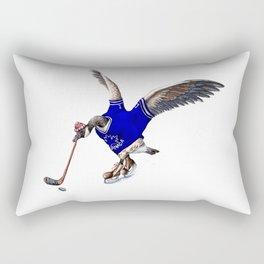 Canada Goose Playing Hockey Rectangular Pillow