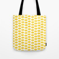 gumball Tote Bags featuring Gumball Eyes by Shelby Thompson
