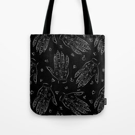 Mystical Palmistry Chart Toss Tote Bag