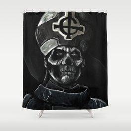 Ghost // Papa Emeritus Shower Curtain