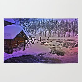 Water mill in Oulanka National Park Rug