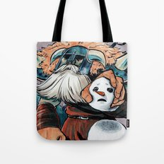 Polar Knight Makes a Friend Tote Bag