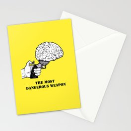 THE MOST DANGEROUS WEAPON Stationery Cards