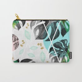 Monstera leaves watercolor Carry-All Pouch