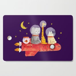 Let's All Go To Mars Cutting Board