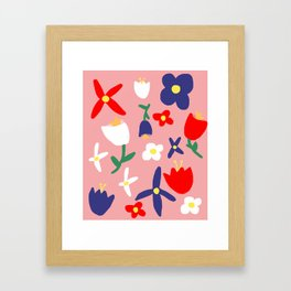 Large Handdrawn Bacchanal Floral Pop Art Print Framed Art Print