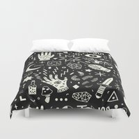 the big bang theory Duvet Covers featuring Witchcraft by LordofMasks