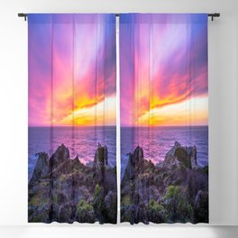 California Dreaming - Brilliant Sunset in Big Sur Blackout Curtain