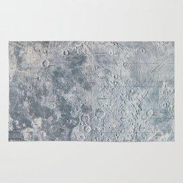 Vintage Lunar Moon Map, 1960s Rug