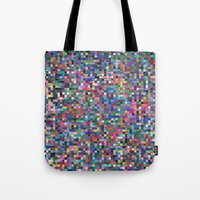 stained glass Tote Bags featuring stained glass by spinL