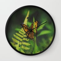 bali Wall Clocks featuring Butterfly, Bali by Dominique Felicity Photography