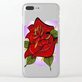 New Skool Tattoo Rose Clear iPhone Case