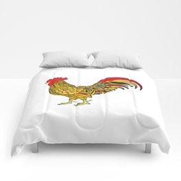 Festive cockerel Comforters