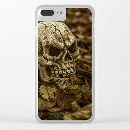 Halloween Skull 2 Clear iPhone Case