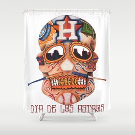 Dia De Los Astros Shower Curtain
