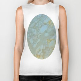 Marble in Blues and Golds, Italian  Biker Tank